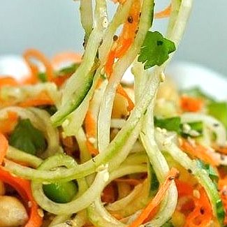 zoodles wortel salade